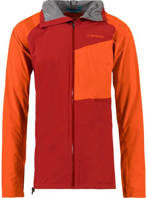 La Sportiva Run - Chaqueta Running Hombre - naranja/rojo